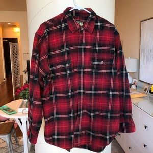 Field Stream Shirt Heavy Flannel Red Black